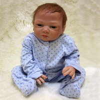 Wholesale Reborn Silicone Baby Dolls cm Realistic Vinyl Baby Infant Doll Lifelike W Clothes Nipple YV0077