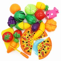 Wholesale MICHLEY Plastic Fruits and Vegetables Foods Playset for Kids Pretend Play Toys ABS Material ZJ pretend