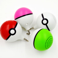 best pocket computer - Universal mm poke ball mini cellphone speaker pokeball pocket monster portable speakers audio Pikachu music ball for iphone plus best