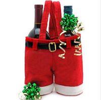 Wholesale New Creative Christmas candy bag Christmas bag Christmas decoration supplies Santa pants bag for candy Gift p