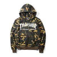 Wholesale 2017 new sale Thrasher hoodie mens camouflage palace skateboard trasher hoodies sweatshirts women camo harajuku hip hop pullover streetwear