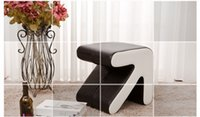 Wholesale bedroom stool computer chair PU leather seat Cotton cloth home tea coffee table chair