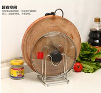anvil cases - Lid shelf stainless steel anvil plate kitchenware shelves Choi board frame Dishui case knife shelf for kitchenroom
