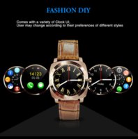 Wholesale DHL Luxury Leather Watchband Smart Watch Pedometer Fitness Clock Camera Masculino SIM TF card X3 Smart watch for Android