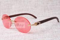best comfort fashion - New Round Fashion Retro Comfort Diamond Sunglasses T8100903 Natural Check Pattern Mirror Leg Sunglasses Best Quality Glasses Size