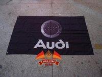 banner sizes print - Audi car flag X150 CM size Digital printing polyester Audi banner