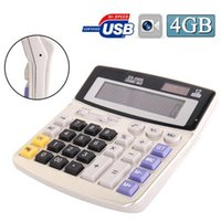 Caméra calculatrice 4 Go Real Office Business Calculator Pinhole caché MINI Caméra DV DVR Enregistreur vidéo Mini espion Caméscope