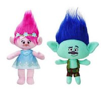 Wholesale Free EMS Inch Trolls Poppy Branch Plush dolls toys cm style children lovely cartoon Poppy Biggie Plush dolls toy