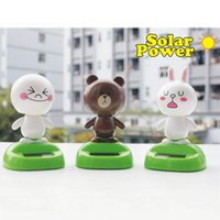 Wholesale Solar Car Dancing Toys Shaking Brown Cony Moon Sold Seperately Shaking Body Car Decoration Car Styling Decoration