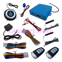 Wholesale PKE Car Alarm System Passive Keyless Entry With Shock Sensor Remote Start Push Button Start Dual Path Control Emergency Release Switch