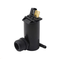 5.1 cm 4.2 cm 6.8 cm Wholesale-Auto Car Windshield Washer Pump 51*42*68mm Assembly Windscreen Washer Motor Pump Nozzle Diameter is 6.4mm Black