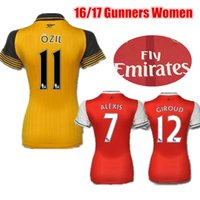 arsenal women - 2016 Women Arsenal Soccer Jerseys Soccer Kits OZIL WILSHERE RAMSEY ALEXIS GIROUD Welbeck Ladies Girls Gunners Football Jersey