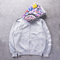 Wholesale 2016 New winter stars popular logo printing and flocking fleece sweethearts Zipper Cardigan Fleece Men Women Sweatshirts Coat
