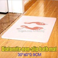 Wholesale Diatomite non slip bath mat Creative household product Bathroom Rugs Quick water absorbing antibacterial excellent Door pad X40x0 CM