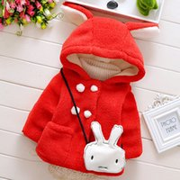 Wholesale Baby Kids Clothing Outwear girls coat winter Christmas French Terry Hooded long sleeve Red coats jacket Children s jackets windbreaker