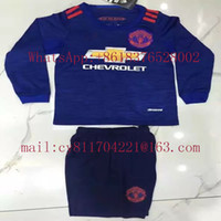 Wholesale 16 Thai version of La Liga Premier League s long sleeved shirt children football clothes welcome to order