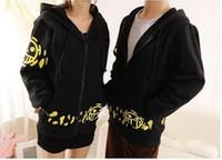 Wholesale Anime ONE PIECE Trafalgar Law Unisex Premium Hoodie Jumper Jacket Cosplay