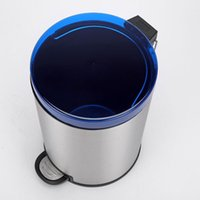 Wholesale 12L Stainless Steel Pedal Step Trash Can Bule