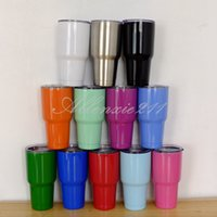 Wholesale 2017 Hot Sell Mix Order Ye ti Cooler oz Colored Travel Vehicle Mug Vacuum Insulated Stainless