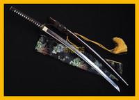 art clay metal - COLLECTION SWORD decorate Hand Forged Full Tang Dragon T10 REAL Clay tempered Japanese Warrior Samurai Katana Tiger Ninja Sword