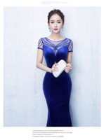 Wholesale Fishtail Gown Noble Company Annual Meeting Host Evening Dress Long Women Cultivate One s Morality Elegant Temperament