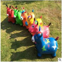 Wholesale Cartoon Jumping Animal Riding Toy high quality Fashion ChildrenThicken Explosion proof Inflatable Child Baby Ride Ons