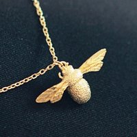 bee sterling - Sterling Silver Cute Little Bee Necklaces Pendants For Women Fashion Girl Hypoallergenic Sterling silver jewelry