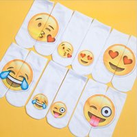 Wholesale 3D Emoji Pattern Socks Emoticon Ankle Socks D Fashion Printed Sock Unisex Emoji Boat Socks DHL pairs