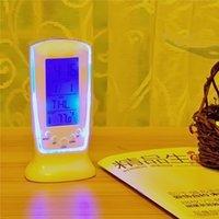Wholesale Digital LED Alarm Clock LCD Desktop Digital Timer Luminous Calendar Thermometer Backlight Multi function Music Clock