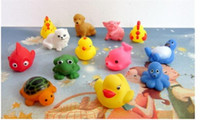 Wholesale Set Mixed Bath toy Rubber animal bath sets Bath Toys for children water games Hotsale fish fishing toy game
