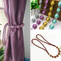 Wholesale Hot Sale Curtain Tiebacks Exquisite Beads Drapes Holdbacks Holder Curtain Accessories Living Room Decor Solid Color JI0235