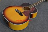 2017 nueva guitarra de la marca de fábrica SJ200 sunburst firma guitarra acústica en la acción China guitarras