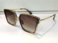 arrow shapes - TOP sunglasses DITA ARROW Unisex designer square shape retro vintage summer style men and woman sunglasses shiny K gold with orig