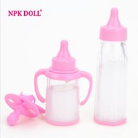 baby doll milk - Magic Feeding Bottles Disappearing Milk With Pacifier Dolls Accessories For Silicone Reborn Baby Doll