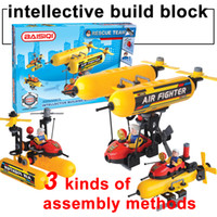 Unisex assembly toys - BAISIQI Soft build block aircraft rescue team intellective building blocks sets Mini action figure Assembly blocks kids toys models