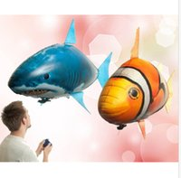 achat en gros de fish toy-Air Swimmers Fish Jouets télécommandés Air Swimmer gonflable Clownfish Big Shark Jouet Jouets Jouets de poissons KKA1262