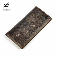 animal pillow prices - Vebin Genuine Leather D Dragon Pattern Mens Long Wallets Male Dollar Price Soft Card Holder Purse ID Credit Card Holder