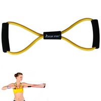 Wholesale 8 type resistance band exercise tube yoga pull up equipment yellow for and kylin sport