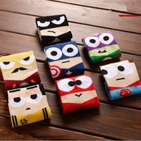 Wholesale 2016 Newest styles High qualty cute Avengers sports Boat socks superhero superman batman Captain America cartoon cotton mens socks L001