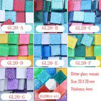 art materials suppliers - 200 gram CM Square Glitter Mosaic Loose Crystal Mosaic Tile DIY Hobbies DIY Mosaic Art Material Supplier Glass