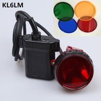 Wholesale Hot Sale New KL6LM LED Hunting Headlamp Miner Cap Light Miners Lamp Retail