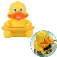 : ABS + silica gel bath tub screen - Cute in Yellow Duck Baby Infant Floating Bath Toy with LCD Screen Tub Water Thermometer Tester Toys