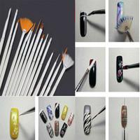 Wholesale Mileegirl Nail Art Brushes Set White Decorations Gel Painting Pen Nail Brush Professional Nail Equipment Drawing Tool