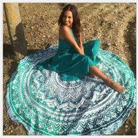 Wholesale Round Mandala Beach Towel Tapestry Hippy Boho Tablecloth Bohemian Serviette Cover Beach Shawl Indian Wrap Yoga Picnic Mat
