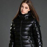 achat en gros de hiver vers le bas short-Manteau en mousseline de soie à manches longues pour femme
