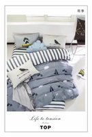 Wholesale Wet Season Bedding Set Duvet Cover Fitted Sheet Pillow Case Cotton Duvet Cover Twin Queen King