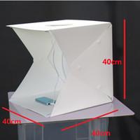 Photo Studio Flash Diffuseurs Mini Photo Portable Kit Light Box Softbox Photographique avec Toile de fond 400 * 400 * 400mm photo lumière tente