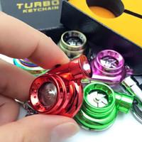 Wholesale Hot saleTurbo Key Chain LED USB colors LED Electric Torch Spinning Turbo Turbine Keychain Key Chain Keyring turbocharge Keyring Keyfob