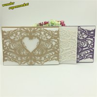 baby shower suppliers - piece New love heart lace laser cut Wedding Invitation Cards baby shower party decoration wedding suppliers wedding favors