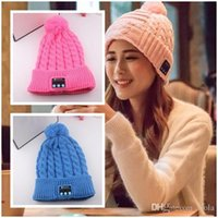 Wholesale Wireless Bluetooth V3 Smart Woolen Knit Beanie Winter Sport Hat Headphone Headset Hands free Music Magic Cap Mp3 Speaker Mic Hot